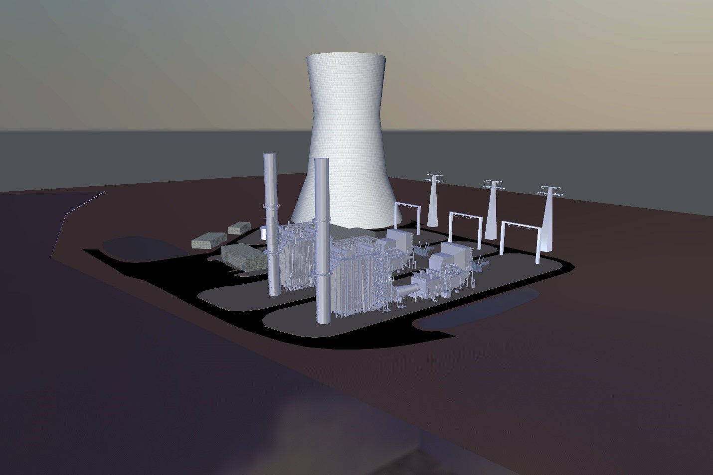 1,000 MW Project Rendering